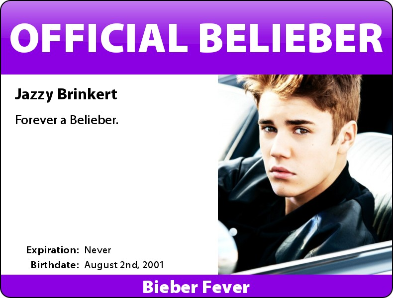 Bieber Fever ID Cards - Everything Biebs